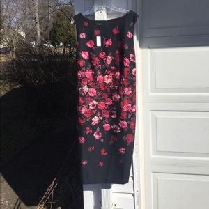 NWT Talbots Beautiful Black With Roses Dress
